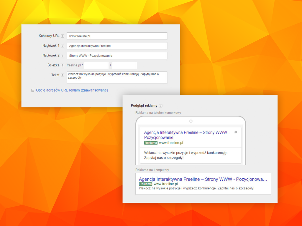 Nowe, rozszerzone reklamy tekstowe w Google AdWords